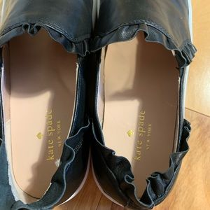 kate spade Shoes - Kate Spade Lillie ruffled leather slip ons. 9
